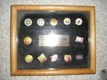 Framed Commemorative 1935-1985 National Jamboree Pin Set