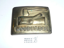 Wood Badge Heavy Cast Brass Belt Buckle