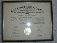 1967 Silver Beaver Award Certificate, presented, Framed