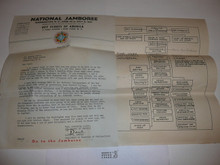 1937 National Jamboree Letter of Appointment to Staff member and Organization Chart