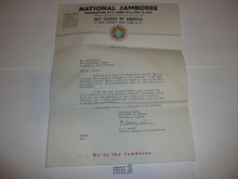 1937 National Jamboree Letter from E.S. Martin to Staff member #3
