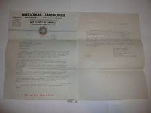 1937 National Jamboree Letter from E.S. Martin to Staff member #1