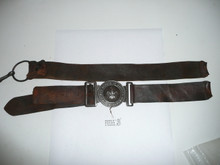 1910 Boy Scouts of America Belt with Metal Buckle, Leather Quite Fragile as Pictured