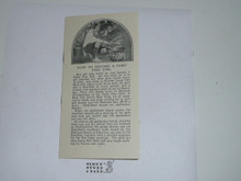 Early 1920's Camp Fire Girls Who They Are And What they Do Pamphlet, Cover Missing