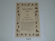 1924 Annual Report of the Camp Fire Girls