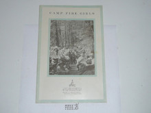 1922 Camp Fire Girls, Early Annual Report