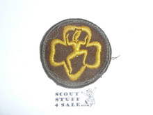 Old Felt Brownie Patch, Used