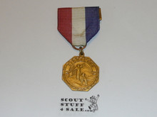 Gold Signaling Boy Scout Contest Medal