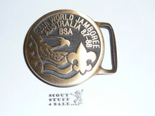 1987-1988 Boy Scout World Jamboree MAX SILBER USA Contingent Belt Buckle