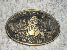 1985 Camp Whitsett Bronze Belt Buckle - Scout