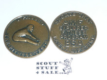 AMF Explorer Boy Scout Fitness Program Coin / Token, I played Dick Weber