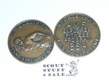 AMF Explorer Boy Scout Fitness Program Coin / Token, I qualified for Swim Tests