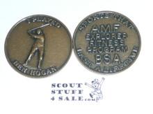 AMF Explorer Boy Scout Fitness Program Coin / Token, I beat Ben Hogan