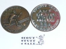 AMF Explorer Boy Scout Fitness Program Coin / Token, I passed Fitness Tests