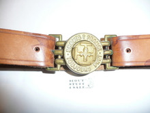 Scouts of France Leather Belt With Brass Buckle, very old