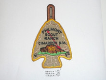 Philmont Scout Ranch Arrowhead Trek Patch, Fiftieth Anniversary Order of the Arrow Mountain Trek