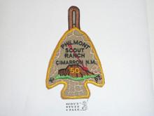 Philmont Scout Ranch Arrowhead Trek Patch, Fiftieth Anniversary Order of the Arrow Mountain Trek