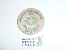 Northern Wisconsin High Adventure Base 1980 Fortieth Anniversary Wooden Nickle
