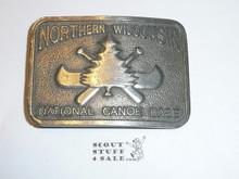 Northern Wisconsin High Adventure Base Heavy Belt Buckle, Silver Finish, Shows Wear