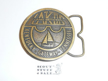 Land Between the Lakes Bronze Belt Buckle