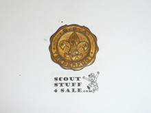 Gold Tenderfoot Boy Scout Watch Fob, Fob Only, No Top to Attach Band To