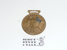 Boy Scout Watch Fob, Salute Flag