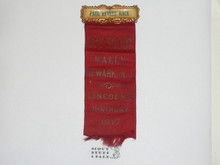 1917 Lincoln's Birthday Boy Scout Rally Award Ribbon, Paul Revere Race