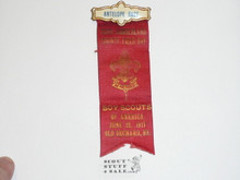 1917 Boy Scout Antelope Race Award Ribbon
