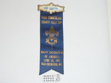 1917 Boy Scout Firelighting Award Ribbon