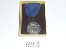 Silver Firemaking Boy Scout Contest Medal, Mint in Box