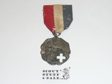 Teen's Diegest & Clust Boy Scout First Aid Contest Medal, Silver, Ribbon Fraying