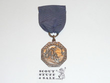 Bronze Signaling Boy Scout Contest Medal