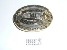 1993 National Jamboree Belt Buckle, gold and silver color