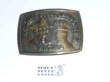1981 National Jamboree Bronze Belt Buckle