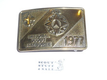 1977 National Jamboree Brass Belt Buckle