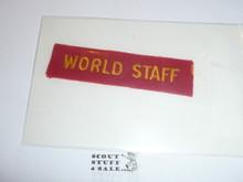 1937 National Jamboree WORLD STAFF Strip, Very Rare!