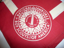 1937 National Jamboree Red Youth Neckerchief, Full Square