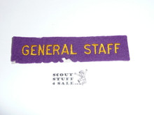 1937 National Jamboree GENERAL STAFF Strip, Used and a little mothing