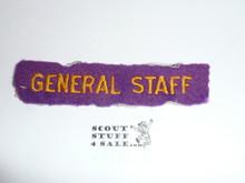 1937 National Jamboree GENERAL STAFF Strip, Used