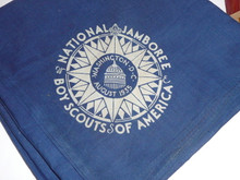 1935 National Jamboree Blue Neckerchief, full square