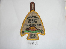 "Philmont Scout Ranch Arrowhead Trek Patch, Fiftieth (50) Anniversary ""MTN TREK"" Mountain Trek Arrowhead"