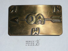 Order of the Arrow Brass Belt Buckle