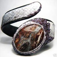 New! 2009 *FOSSIL*& GREEN COBRA Snake Skin CUFF Bracelet