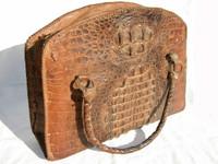 Awesome HORNBACK CROCODILE 1950's OVERNIGHT Bag Luggage