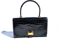 "Vintage HERMES ""BRIO"" 1950's-60's CROCODILE POROSUS Handbag"