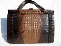 1980's HORNBACK Crocodile Skin Handbag