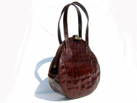 Unique MAYER 1940's-50's DECO Style ALLIGATOR Skin Handbag