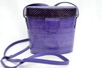 Lovely PURPLE 1980's-1990's Mundi Cobra Snake Skin Crossbody Shoulder Bag
