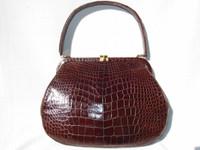 Voluptuous 1950's-60's LUCILLE de PARIS Alligator Skin Handbag