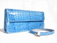 NEW 2007 BLUE Crocodile Skin CLUTCH Shoulder Bag - LAI!